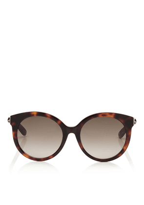 4475e35d0dfe ASTAR Dark Havana Oversized Sunglasses with Gold Star Detailing. Jimmy Choo