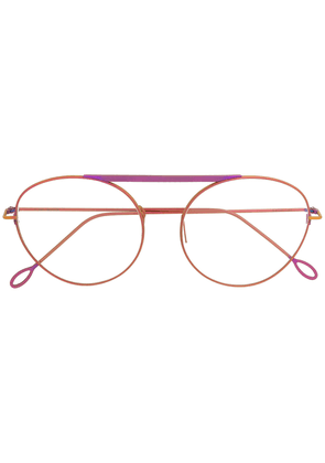 Delirious aviator-style glasses - Pink