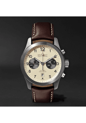 Bremont - Alt1-classic/cr Automatic Chronograph 43mm Stainless Steel And Leather Watch - Cream