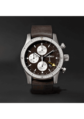 Bremont - Boeing 100 Automatic Chronometer 43mm Titanium And Leather Watch - Brown