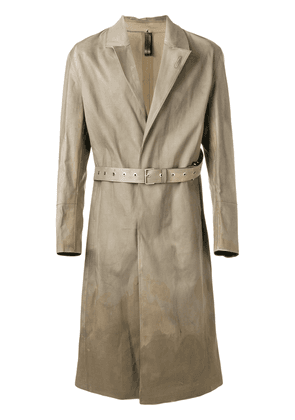 Alyx Alyx x Mackintosh belted trench coat - Brown