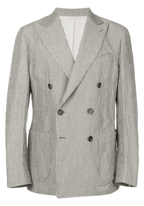 Doppiaa striped double-breasted blazer - Nude & Neutrals
