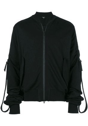 Ann Demeulemeester Blanche buckled sleeves jacket - Black