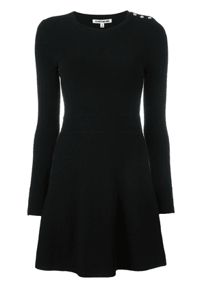 Elizabeth And James button detail knitted dress - Black