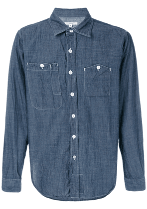 Engineered Garments contrast stitching shirt - Blue
