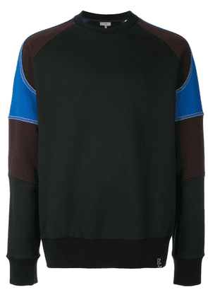 Lanvin colour block sweatshirt - Black