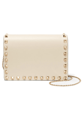 Valentino - Valentino Garavani The Rockstud Leather Shoulder Bag - Ivory