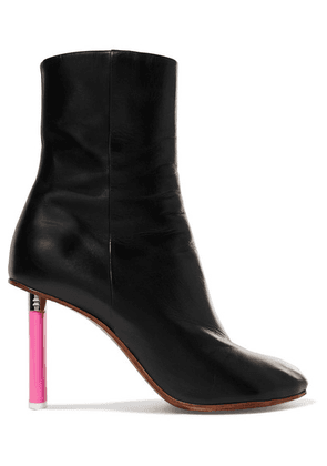 Vetements - Leather Ankle Boots - Black