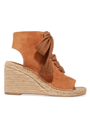 Chloé - Harper Lace-up Suede Espadrille Wedge Sandals - Tan