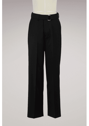 Large pants with belt