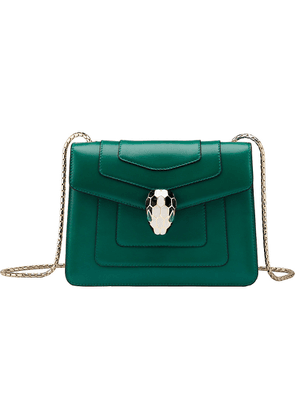 Bvlgari Serpenti Forever leather shoulder bag, Women's, Emerald green