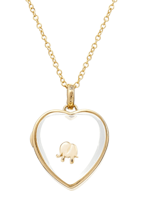 Loquet 14kt Heart Locket with 18kt Gold Charm