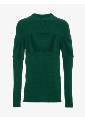 Curieux Green Cashmere Ripple Sweater