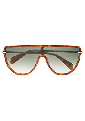rag & bone - D-frame Acetate And Gold-tone Sunglasses - Brown