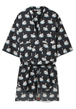 Stella McCartney - Printed Cotton And Silk-blend Coverup - Black