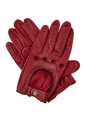 Dents Leather driving gloves, Mens, Size: XL, Berry/black