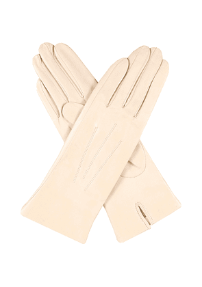Dents Classic silk-lined leather gloves, Women's, Size: 7, Parchment