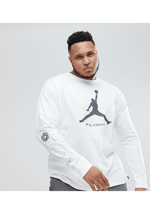 76a8bfc4e9d Nike Jordan PLUS Long Sleeve Top With Arm Print In White AA3272-100 - White