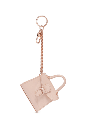 'Brillant Charms' patent leather bag keyring