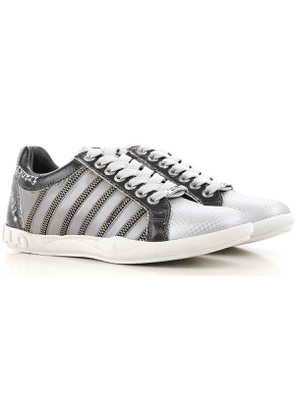 Frankie Morello Sneakers for Women On Sale in Outlet, Silver, Leather, 2017, 3.5 4.5