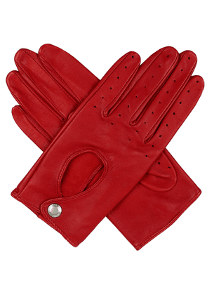 Leather keyhole driving gloves