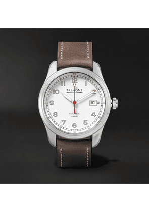 Bremont - Airco Mach 1 Automatic Chronometer 40mm Stainless Steel And Leather Watch - White