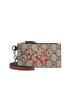 3455fa6095bde5 Gucci Kingsnake print GG Supreme wallet | Neutrals | MILANSTYLE.COM