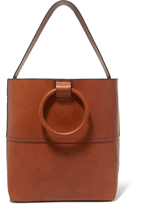 Theory - Hoop Leather Tote - Tan