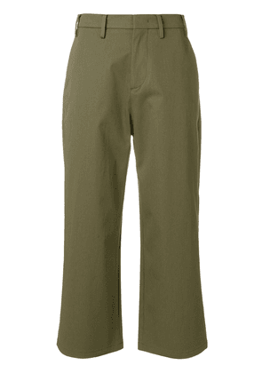 No21 cropped flare trousers - Green