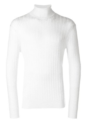Eleventy turtleneck knitted sweater - White