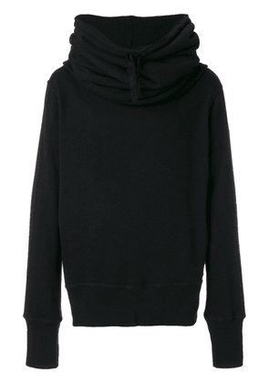 Ann Demeulemeester cowl hooded jumper - Black