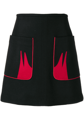 No21 contrast pocket skirt - Black