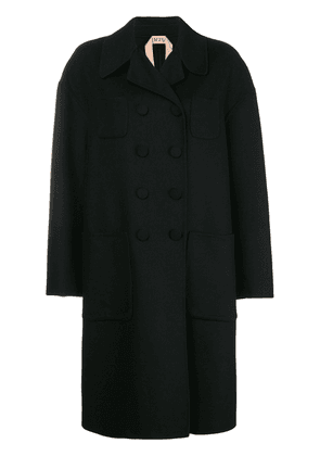 No21 boxy double-breasted coat - Black