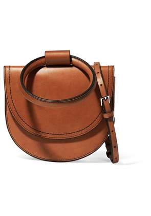 Theory - Whitney Leather Shoulder Bag - Tan