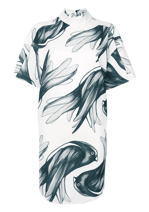 Ioana Ciolacu bird print dress - White
