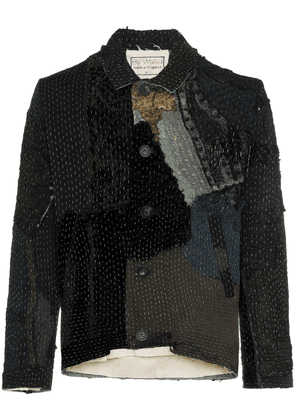 By Walid amro 19th-century embroidered silk jacket - Black