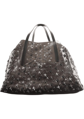 Jimmy Choo Tote Bag On Sale, Dark Silver, Leather, 2017
