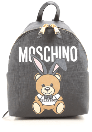 Moschino Backpack for Women On Sale, Black, Leather, 2017