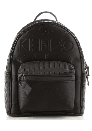 Kenzo Backpack for Women On Sale, Black, Leather, 2017