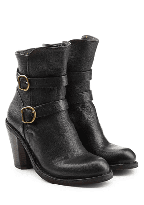 Fiorentini + Baker Leather Double Strap Ankle Boots