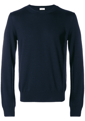 Saint Laurent classic knitted sweater - Blue