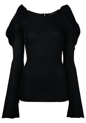 David Koma round neck jumper - Black