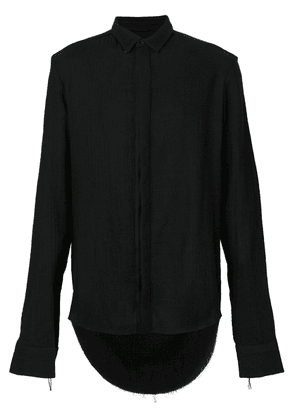 Cedric Jacquemyn long curved hem shirt - Black