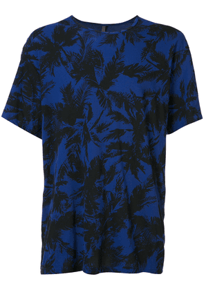 Attachment palm tree print T-shirt - Blue