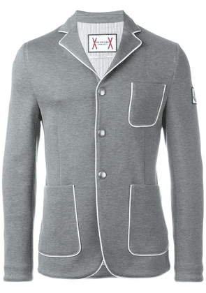Moncler piped blazer - Grey
