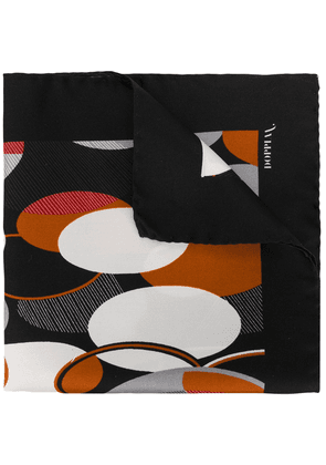 Doppiaa all-over print scarf - Black