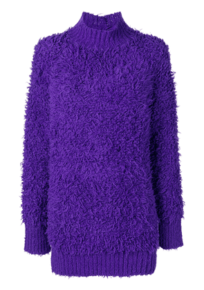 Marni textured oversized sweater - Pink & Purple