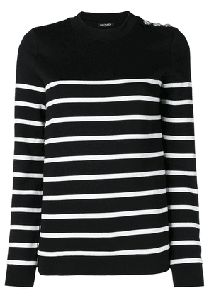 Balmain striped sweater - Black