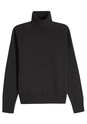 ami Merino Wool Turtleneck Pullover with Cashmere