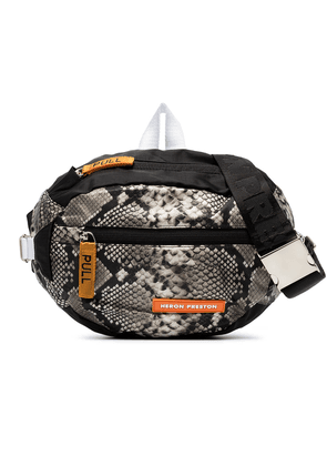 Heron Preston python print reversible messenger bag - Unavailable